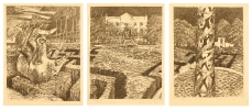 Vision at Uitkyk - I-III  |  1994  |  44x35cm  |  triptych  |  soft ground etching  |  ed.5