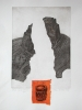 Monument     Break down the barriers     1998     39x24cm     etching, chine collé     ed.20
