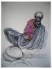 Indian basket weaver  |  2009  |  70x57cm  |  Charcoal, pastel  |