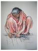 Indian carpet shearer  |  2009  |  66x52cm  |  pastel